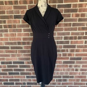 Black career short sleeve dress
